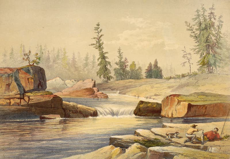 Sketches on the Nipisaguit - The Pabineau Falls (1860)