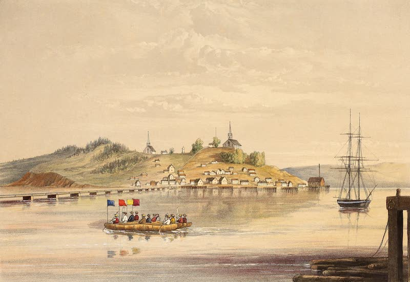Sketches on the Nipisaguit - The Town of Bathurst (1860)