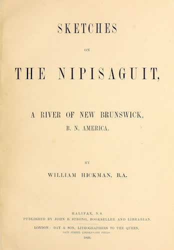 Sketches on the Nipisaguit - Title Page (1860)