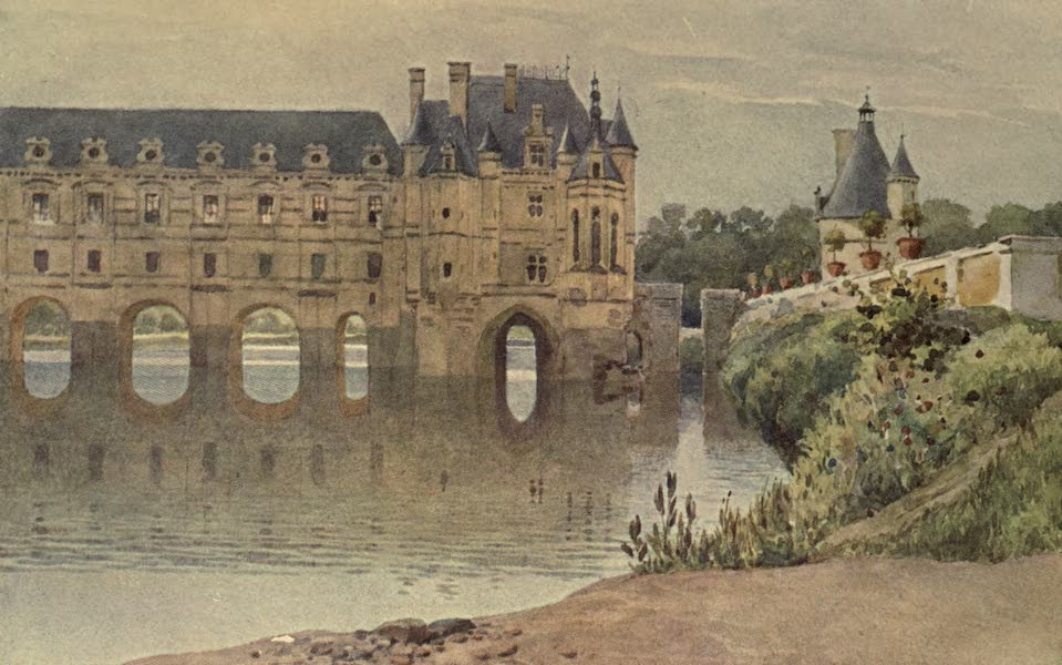 Sketches on the Old Road Through France to Florence - The Castle of Chenonceau (1904)