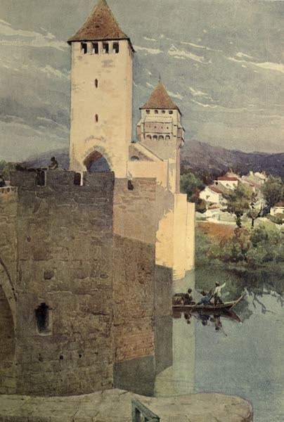 Sketches on the Old Road Through France to Florence - Cahors, Pont Valentre (1265-1383), from the West (1904)