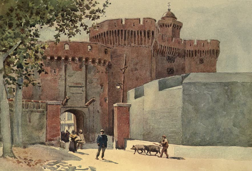 Sketches on the Old Road Through France to Florence - Perpignan, Gateway in the Fortifications (1904)