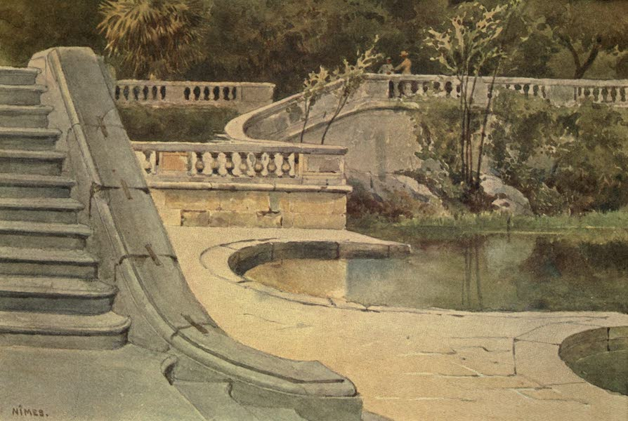 Sketches on the Old Road Through France to Florence - Nimes, Roman Baths (1904)
