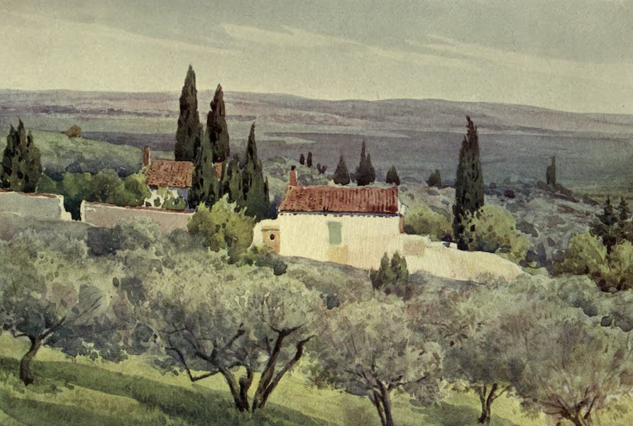 Sketches on the Old Road Through France to Florence - Nimes, View of the Country South (1904)