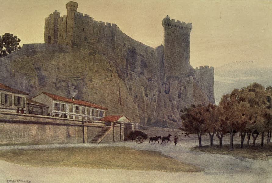 Sketches on the Old Road Through France to Florence - Beaucaire, Twelfth-Century Castle (1904)