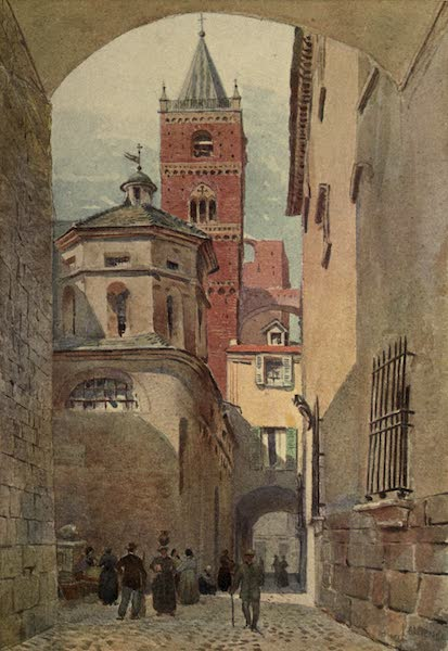 Sketches on the Old Road Through France to Florence - Albenga, Cathedral Tower and Baptistery (1904)