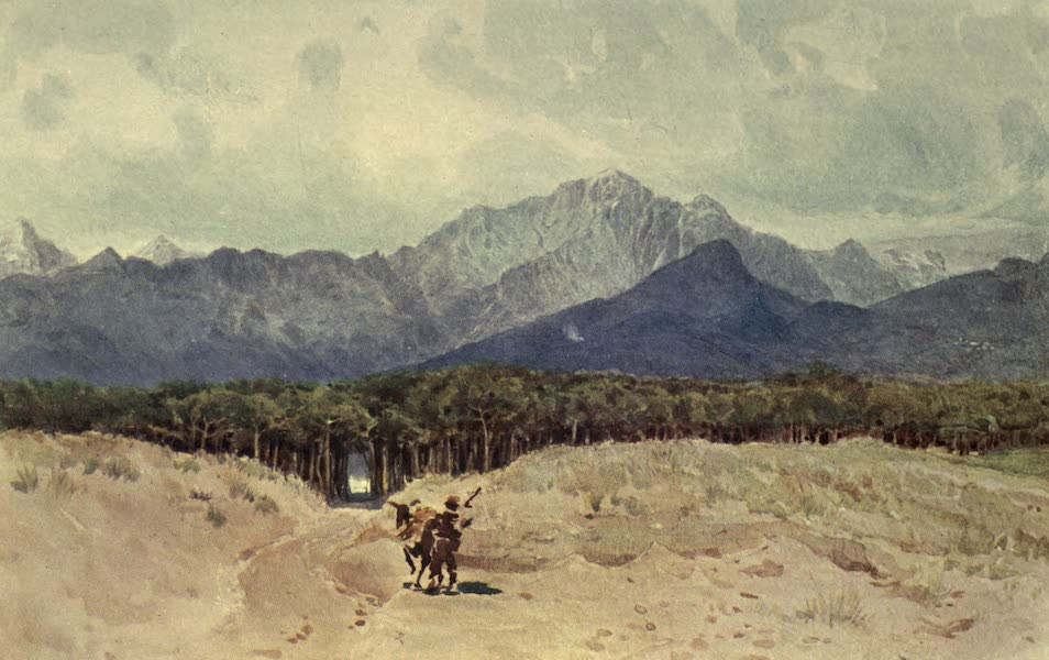 Sketches on the Old Road Through France to Florence - The Carrara Mountains from the Sea-coast (1904)