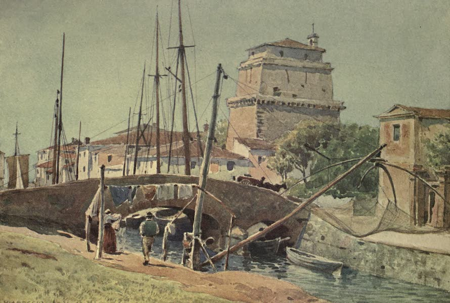 Sketches on the Old Road Through France to Florence - Viareggio, the Port (1904)
