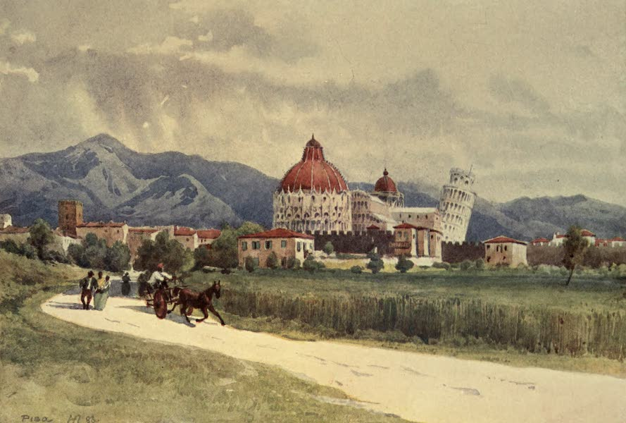 Sketches on the Old Road Through France to Florence - Pisa from Out Side the Walls (1904)