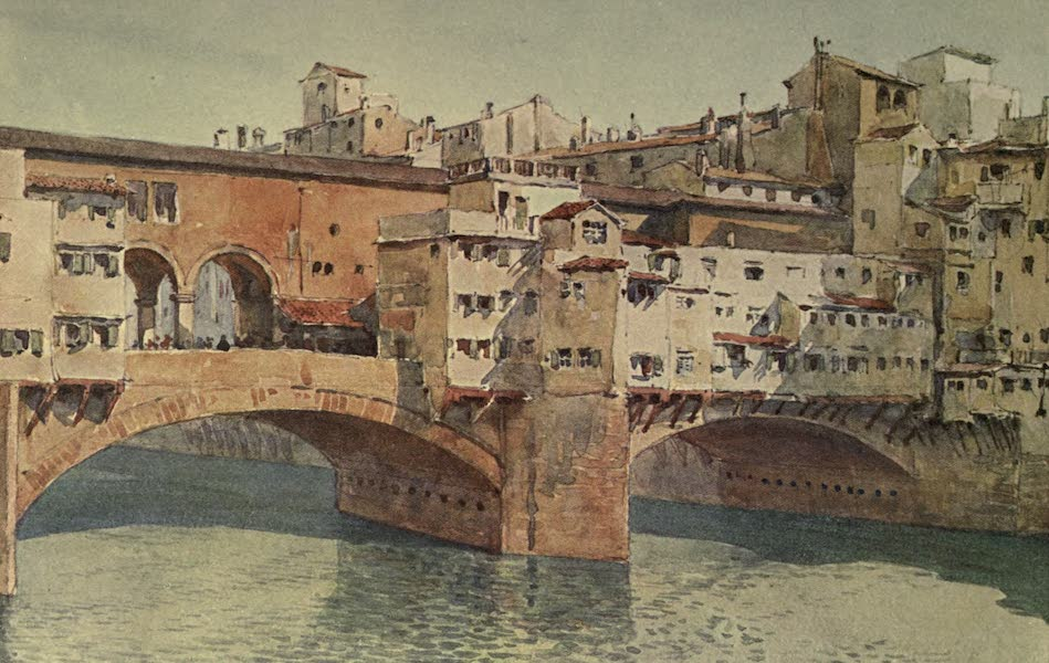Sketches on the Old Road Through France to Florence - Florence, Ponte Vecchio (1904)