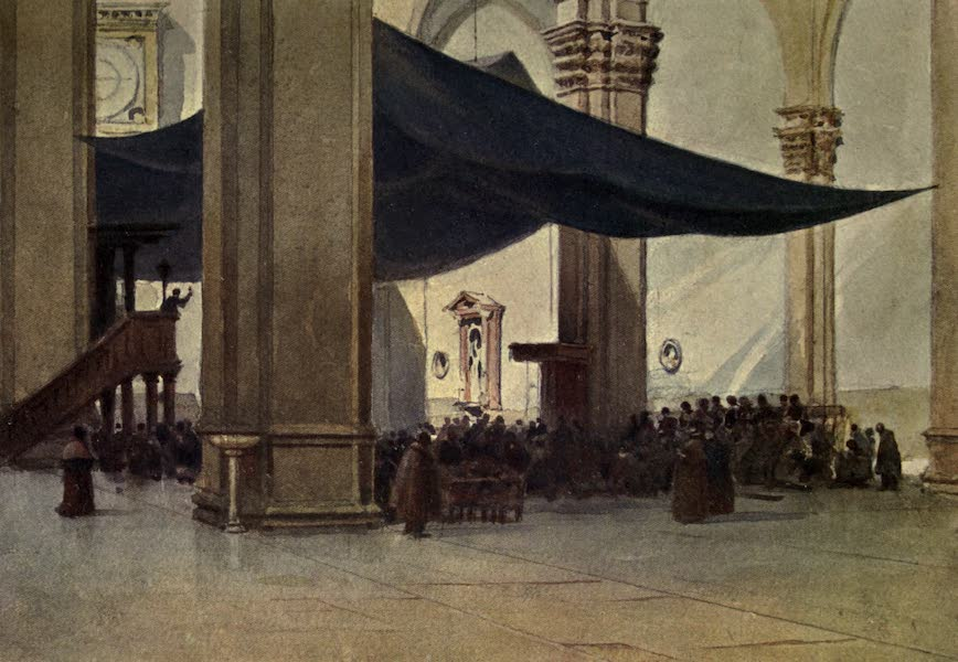 Sketches on the Old Road Through France to Florence - Florence, Interior of the Duomo During the Lenten Preaching (1904)