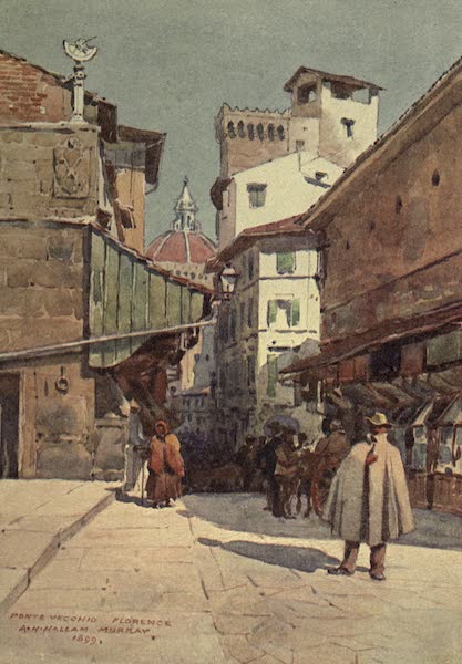 Sketches on the Old Road Through France to Florence - Florence, the Duomo from the Ponte Vecchio. (1904)