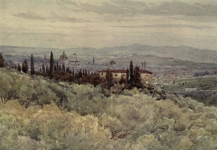 Sketches on the Old Road Through France to Florence - Florence from the Olive Gardens of San Domenico (1904)