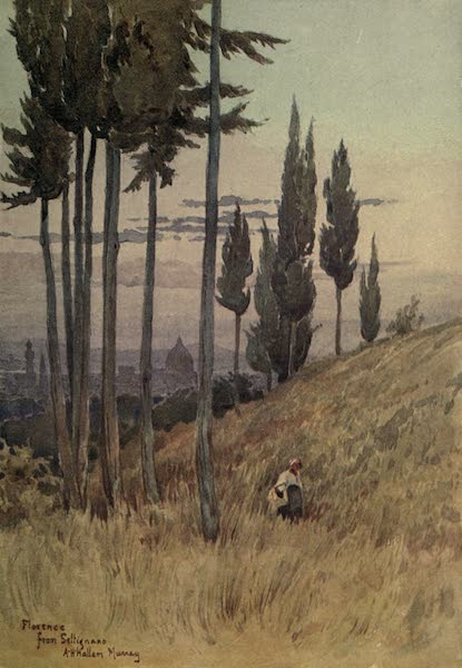 Sketches on the Old Road Through France to Florence - Lorence from Poggio Gherardo (1904)