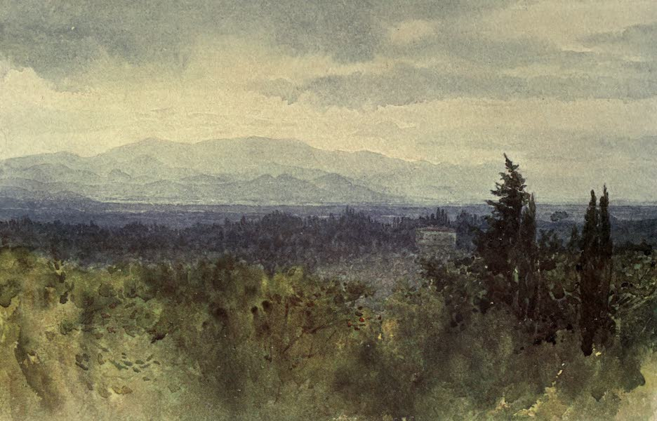 Sketches on the Old Road Through France to Florence - Florence, View Across the Plain to the Hills (1904)