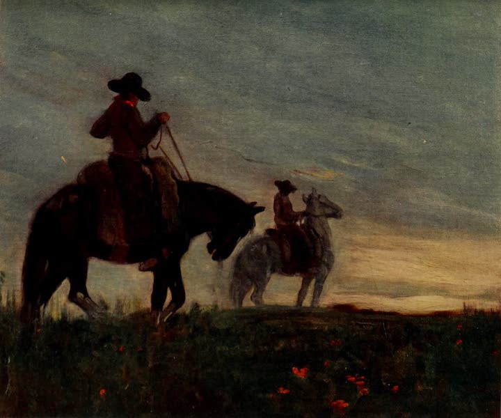 South America, Painted and Described - Guachos After a Long Ride (1912)