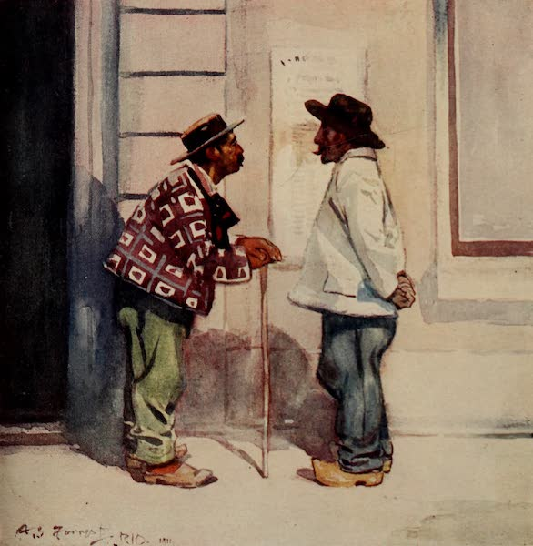South America, Painted and Described - Portuguese Labourers, Brazil (1912)