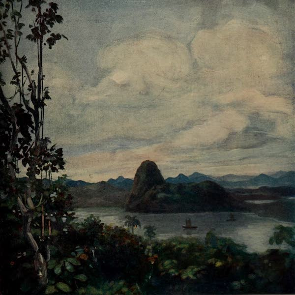 South America, Painted and Described - A View from the Hills Behind Rio (1912)