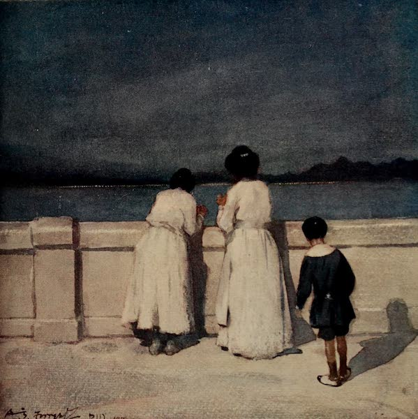 South America, Painted and Described - Evening in Rio Harbour (1912)