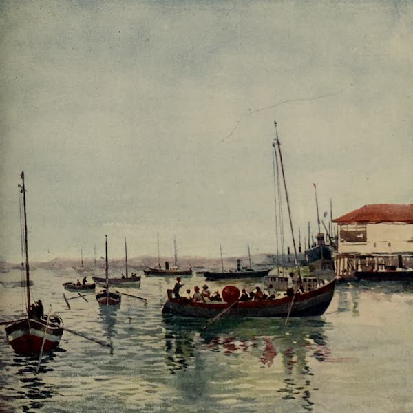 South America, Painted and Described - Boats in the Port at Bahia (1912)