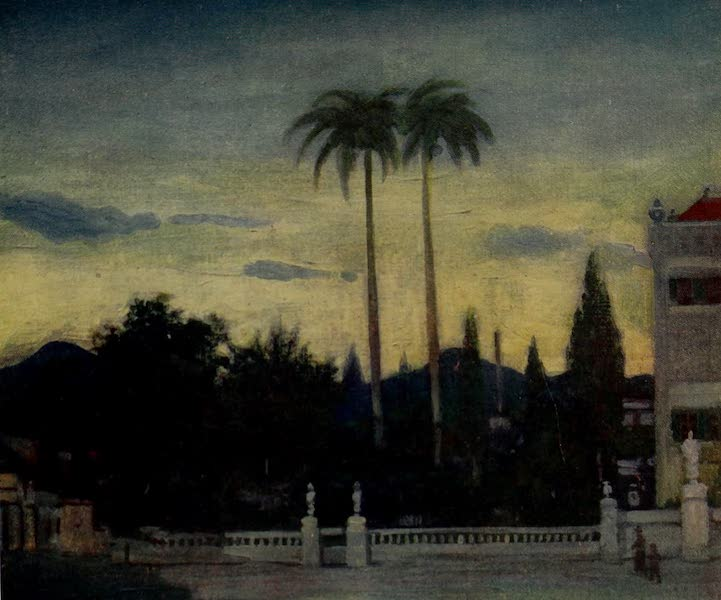 South America, Painted and Described - Gardens of the Beira-Mar (1912)