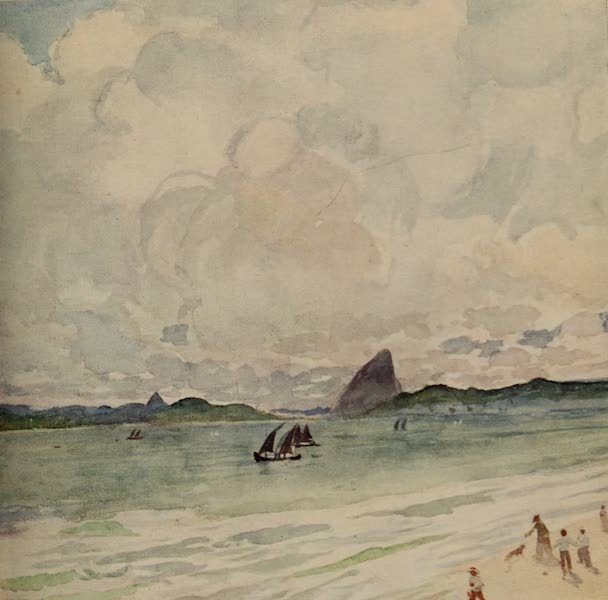 South America, Painted and Described - The Sugar Loaf - Rio Harbour - Mid-Day (1912)