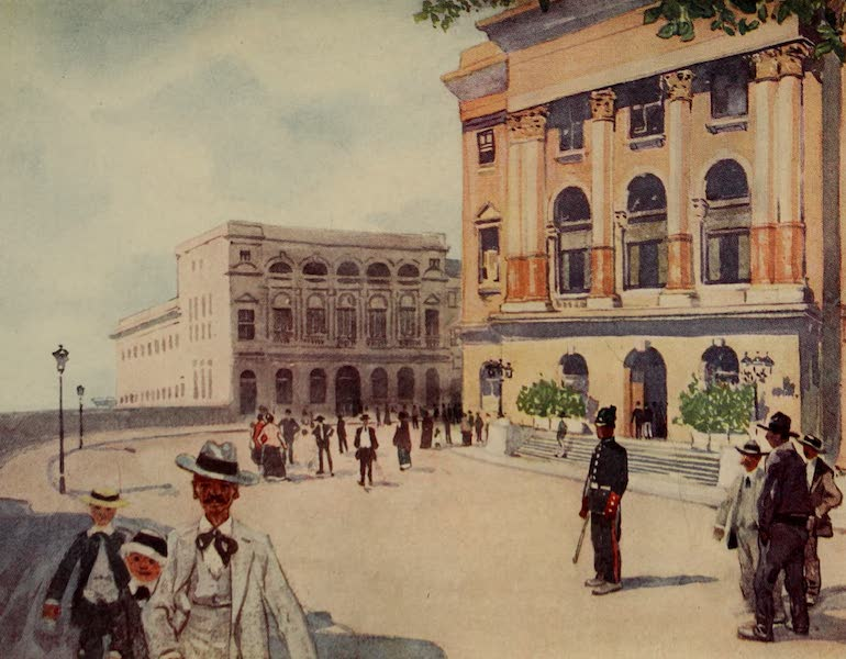 South America, Painted and Described - The Palace Square, São Paulo, with Government Buildings (1912)
