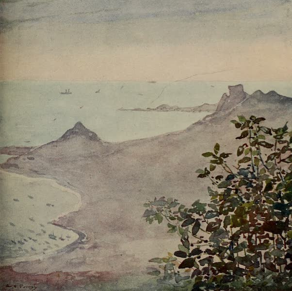 South America, Painted and Described - The Atlantic from the Corcovado, Rio (1912)