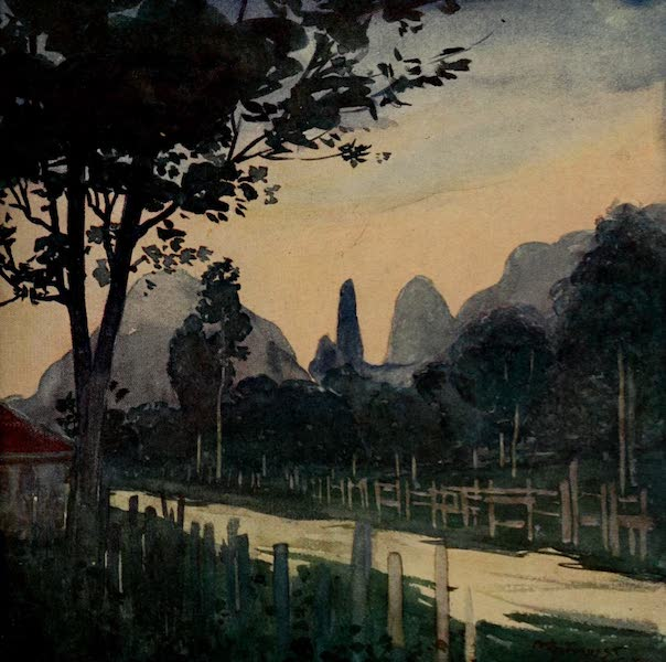 South America, Painted and Described - The Organ Mountains from Theresapolis (1912)