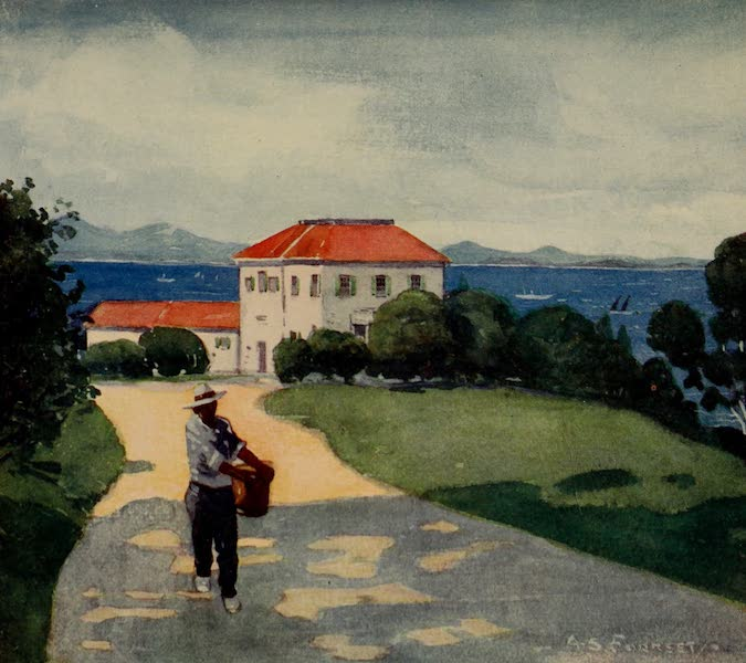South America, Painted and Described - Vianna - One of the Beautiful Islands in Rio Harbour (1912)