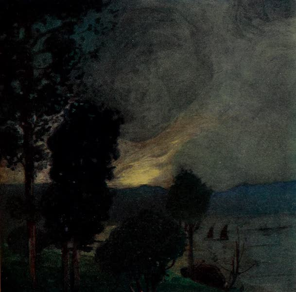 South America, Painted and Described - Evening on the Island of Vianna, Rio Harbour (1912)