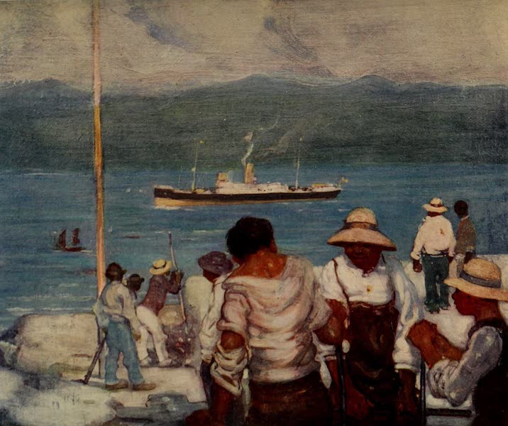 South America, Painted and Described - Workmen on a Fort at the Entrance to Rio Harbour (1912)