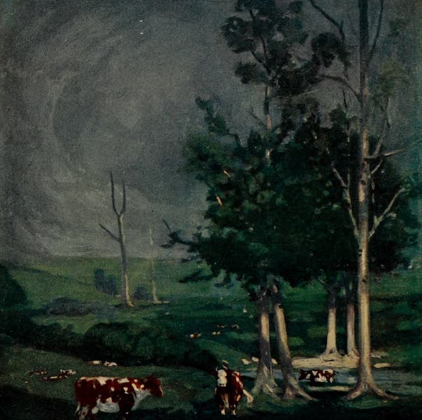 South America, Painted and Described - A Storm on a Cattle Farm in Uruguay (1912)