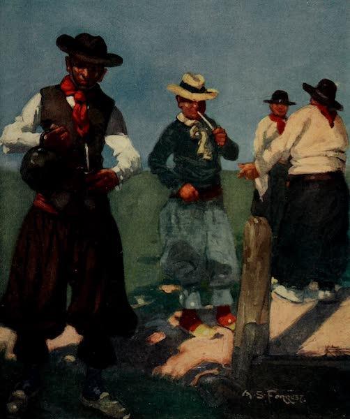 South America, Painted and Described - Guachos Preparing Yerba Maté (1912)