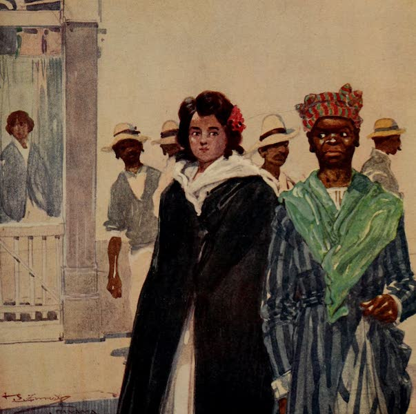 South America, Painted and Described - Cartagena - A Street Scene (1912)