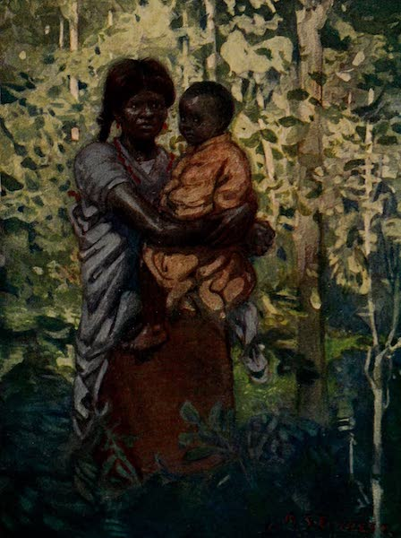 South America, Painted and Described - A Colombian Indian Mother and Child (1912)