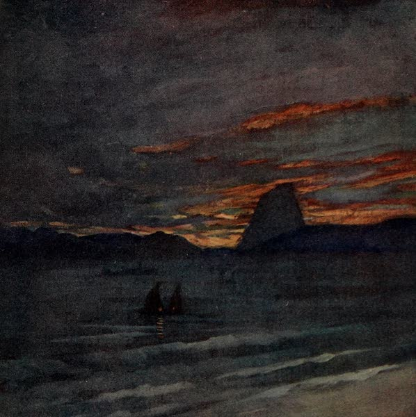 South America, Painted and Described - The Sugar Loaf at Sunset, Rio (1912)