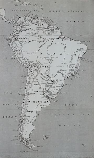 South America, Painted and Described - Sketch Map of South America (1912)