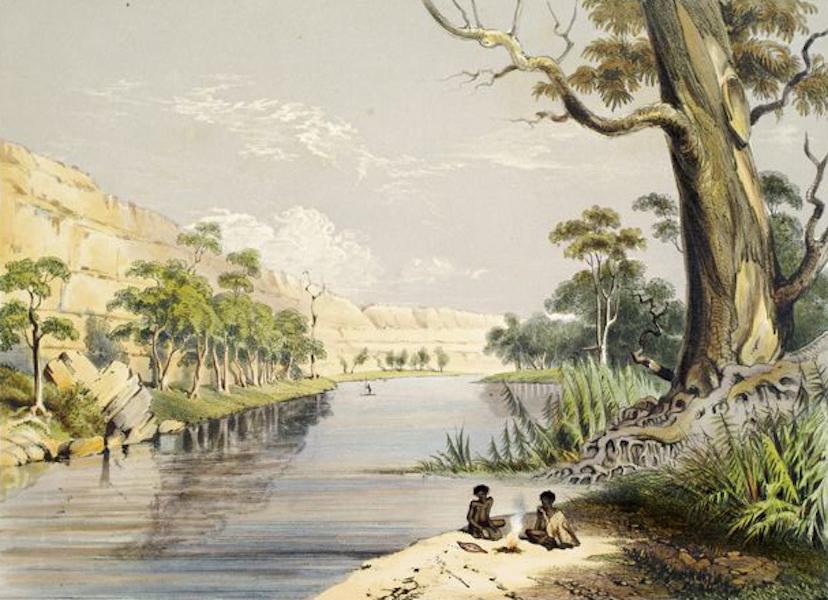 South Australia Illustrated - The River Murray above Moorundi (1847)