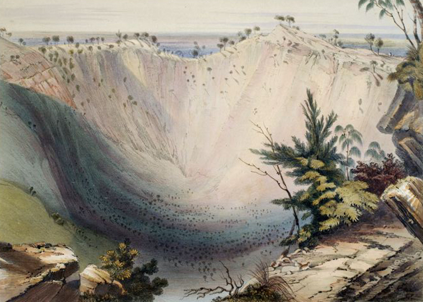 South Australia Illustrated - Crater of Mount Schanck (1847)