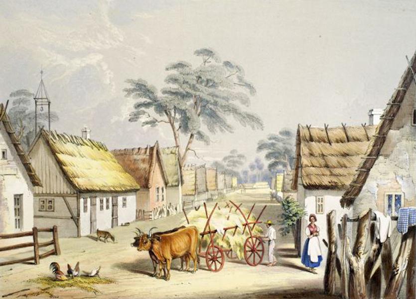 South Australia Illustrated - Klemsic, a village of German Settlers (1847)