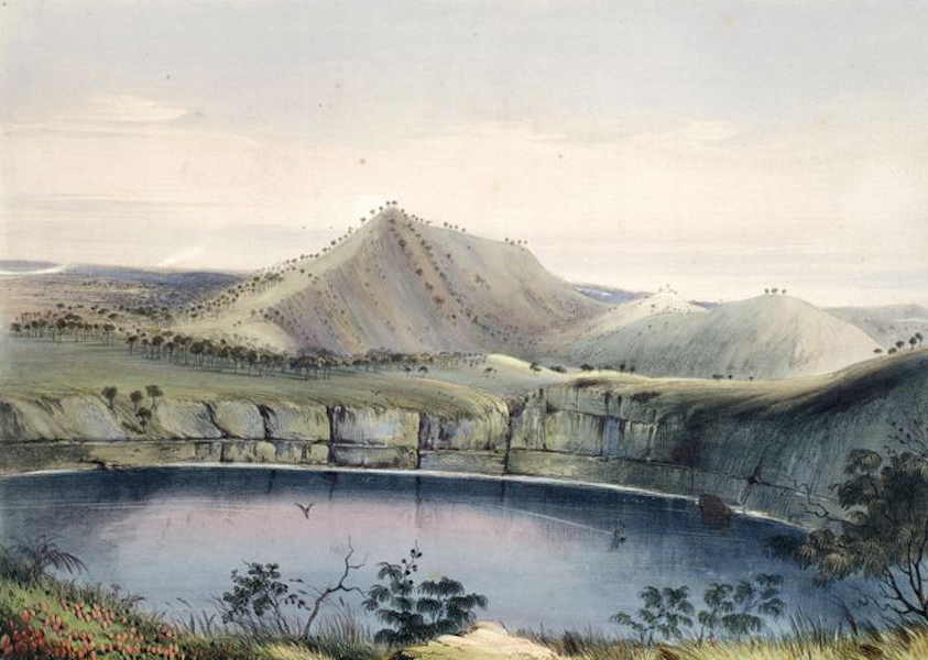 South Australia Illustrated - Mount Gambier, and one of its Volcanic Lakes (1847)