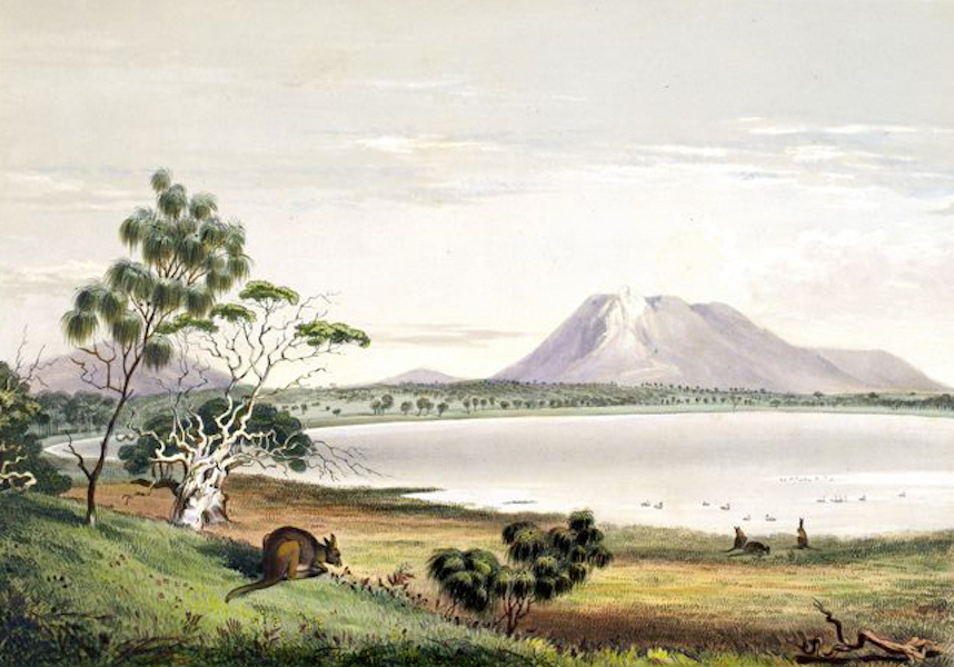 South Australia Illustrated - Waungerri Lake and the Marble Range Westward of Port Lincoln (1847)