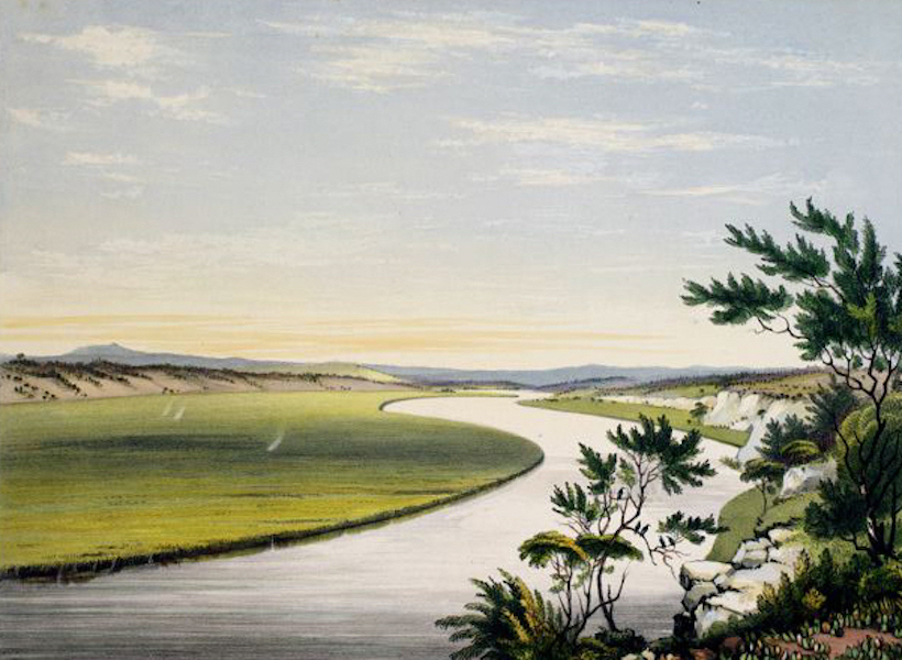 South Australia Illustrated - The River Murray, near Lake Alexandria (1847)