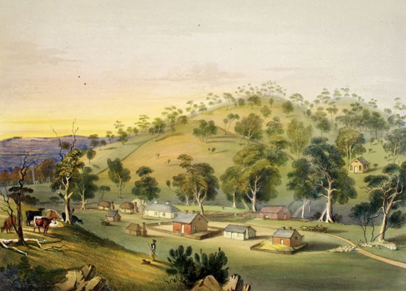 South Australia Illustrated - Angaston Evening (1847)