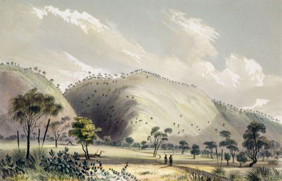 South Australia Illustrated - Entrance to the Gorge at Yankallillah (1847)