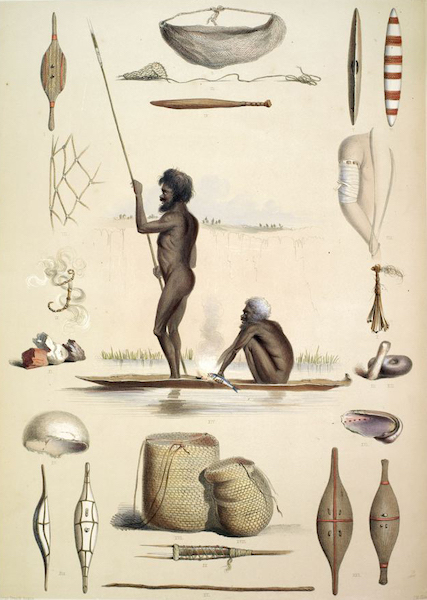 South Australia Illustrated - The Aboriginal Inhabitants Implements and Domestic Economy (1847)