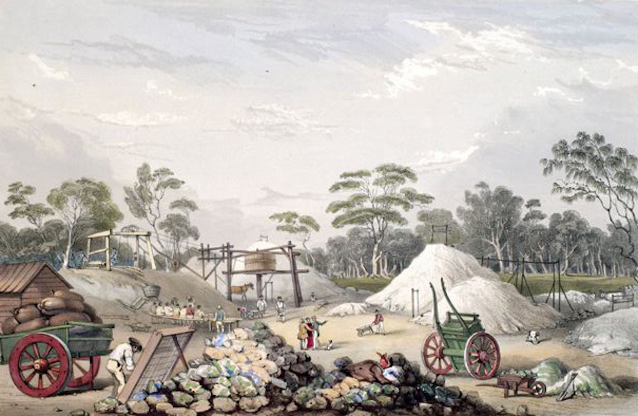 South Australia Illustrated - The Kapundia Copper Mine (1847)