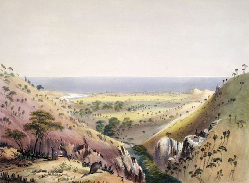 South Australia Illustrated - Currakalinga, looking across St Vincent's Gulf (1847)