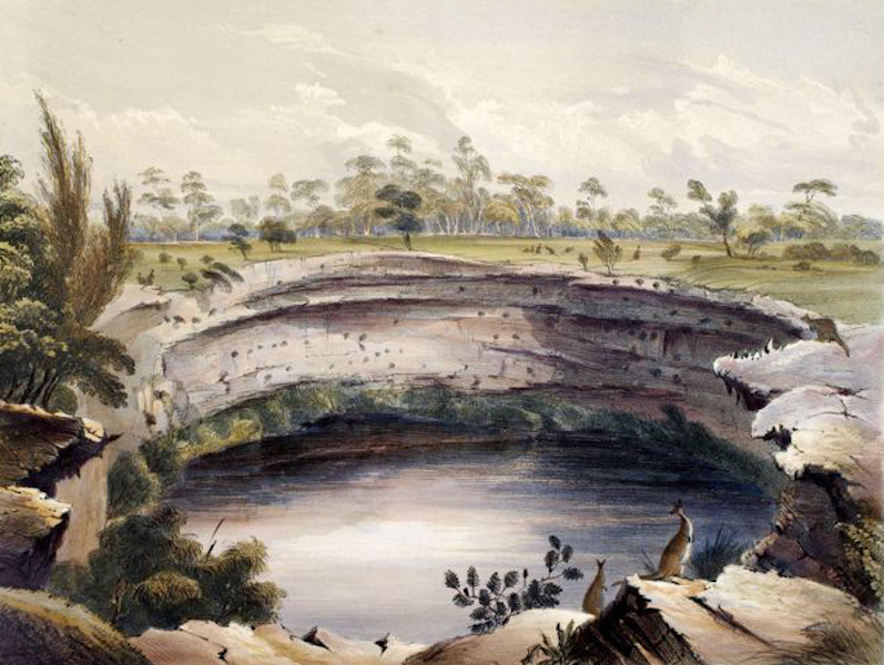 South Australia Illustrated - The Devil's Punch Bowl, near Mt Schanck (1847)
